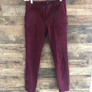 6 Tall Ann Taylor Cargo Ankle Zip Pants Lot